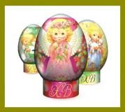 Набор пасхальный АНГЕЛЫ (термопленка для яиц)