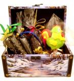 Подарочный набор Первозимье (чай черный, чай зеленый, мед, пряник)