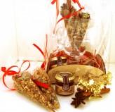 Подарочный набор С Новым Годом (приправа для глинтвейна, бокал, мед)