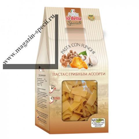 Паста с грибным ассорти (макароны) Pasta La Bella Speciale, 250г
