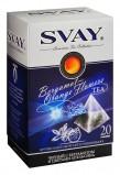 Черный чай в пирамидках Svay Bergamot-Orange Flowers (Черный бергамот, цветки апельсина, яблоко), 20*2.5г