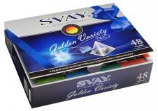 Набор чай в пирамидках Svay Golden Variety (Черный, Зеленый, Травяной), 48*2г